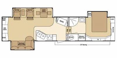 Find Specs for 2008 K-Z - Escalade <br>Floorplan: 37 REB (Fifth Wheel)