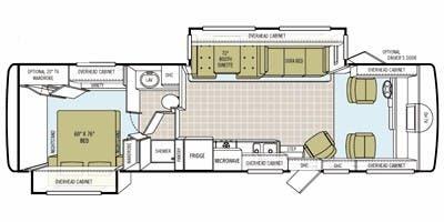 Find Specs for 2008 Tiffin - Allegro <br>Floorplan: 32 BA (Class A)
