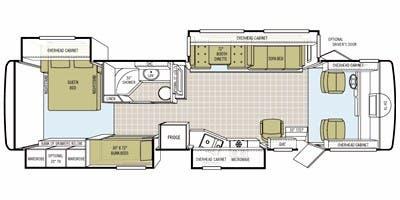 Find Specs for 2008 Tiffin - Allegro <br>Floorplan: 35 QBA (Class A)