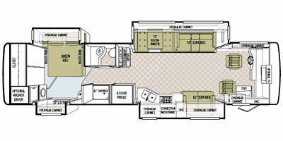 Find Specs for 2009 Tiffin - Phaeton <br>Floorplan: 36 QSH (Class A)