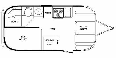 Find Specs for 2009 Airstream - Flying Cloud <br>Floorplan: 19 Bambi (Travel Trailer)