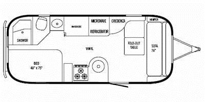 Find Specs for 2013 Airstream - Flying Cloud <br>Floorplan: 23 (Travel Trailer)
