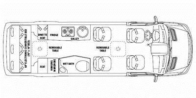 Find Specs for 2009 Airstream - Interstate <br>Floorplan: 3500 (Class B)