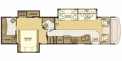 2009 Fleetwood Fiesta LX Specs & Floorplans | Fleetwood RV ... on winnebago voyage motorhome floor plans, fleetwood bounder motorhome floor plans, 26 foot motorhome floor plans,