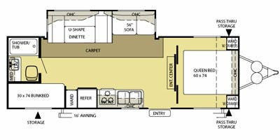 Find Specs for 2009 Forest River - Salem <br>Floorplan: 272BHUD (Travel Trailer)