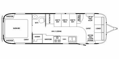 Find Specs for 2010 Airstream - Classic Limited <br>Floorplan: 30 (Travel Trailer)