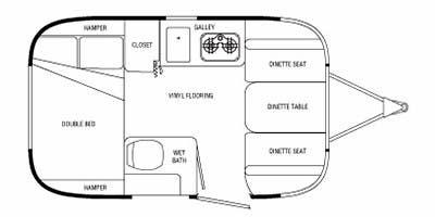 Find Specs for 2010 Airstream - Sport <br>Floorplan: 16 (Travel Trailer)