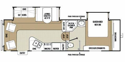 Find Specs for 2010 Coachmen - Chaparral <br>Floorplan: 276RLDS (Fifth Wheel)