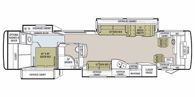 Find Specs for 2010 Tiffin - Allegro Bus <br>Floorplan: 40 QRP (Class A)
