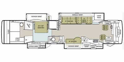 Find Specs for 2010 Tiffin - Allegro Bus <br>Floorplan: 43 QBP (Class A)