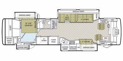 Find Specs for 2011 Tiffin - Phaeton <br>Floorplan: 36 QSH (Class A)