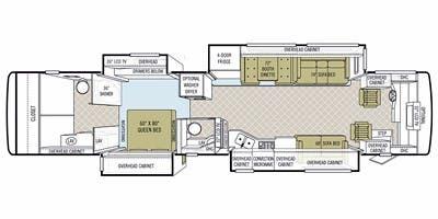 Find Specs for 2010 Tiffin - Phaeton <br>Floorplan: 42 QBH (Class A)