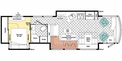 Find Specs for 2010 Itasca - Ellipse <br>Floorplan: 40BD (Class A)