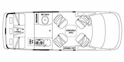 Find Specs for 2011 Airstream - Avenue <br>Floorplan: 20 (Class B)