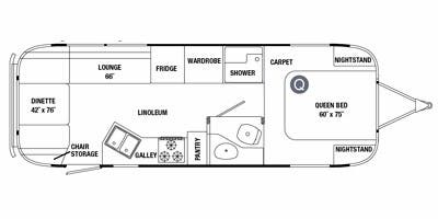 Find Specs for 2011 Airstream - Classic Limited <br>Floorplan: 27FB (Travel Trailer)