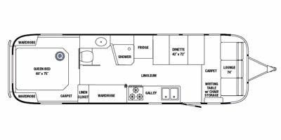 Find Specs for 2011 Airstream - Classic Limited <br>Floorplan: 31 (Travel Trailer)