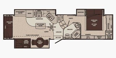 Find Specs for 2011 Carriage - Cameo <br>Floorplan: 35SB3 (Fifth Wheel)