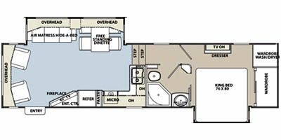 Find Specs for 2012 Coachmen - Brookstone <br>Floorplan: 324RL (Fifth Wheel)