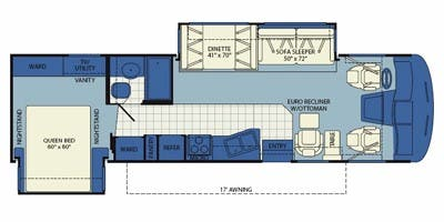 Find Specs for 2011 Fleetwood - Southwind <br>Floorplan: 32VS (Class A)