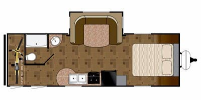 Find Specs for 2011 Heartland - Prowler <br>Floorplan: Sport 23P FBB (Travel Trailer)