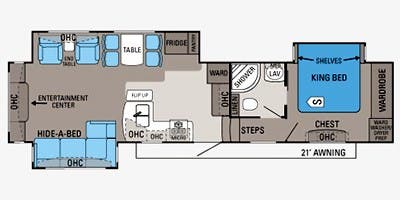 Find Specs for 2013 Jayco - Pinnacle <br>Floorplan: 36RETS (Fifth Wheel)