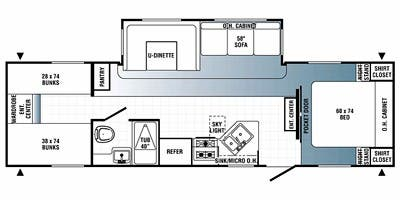 Find Specs for 2012 Palomino - Puma <br>Floorplan: 30-DBSS (Travel Trailer)