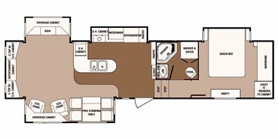 Find Specs for 2011 SunnyBrook - Bristol Bay <br>Floorplan: 3510 RE (Fifth Wheel)