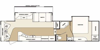 Find Specs for 2011 SunnyBrook - Brookside <br>Floorplan: 290 FWRLS (Fifth Wheel)