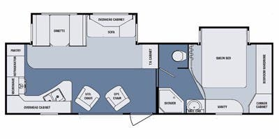 Find Specs for 2012 SunnyBrook - Brookside <br>Floorplan: 303 SLS (Travel Trailer)