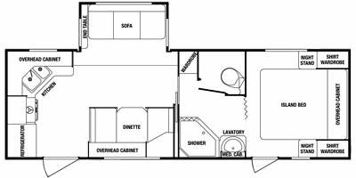 Find Specs for 2011 SunnyBrook - Edgewater <br>Floorplan: 255 RKE (Travel Trailer)