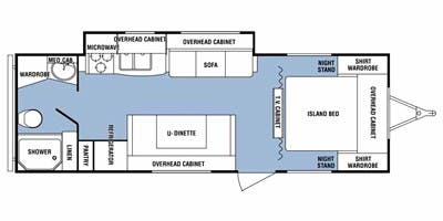 Find Specs for 2012 SunnyBrook - Harmony <br>Floorplan: 25CKS (Travel Trailer)