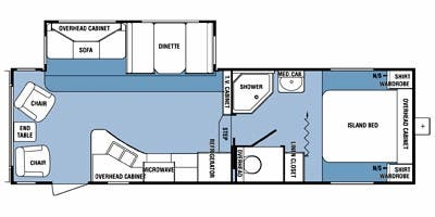 Find Specs for 2012 SunnyBrook - Harmony <br>Floorplan: 281FWRLS (Fifth Wheel)