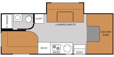 Find Specs for 2012 Thor Motor Coach - Chateau <br>Floorplan: 23S (Class C)