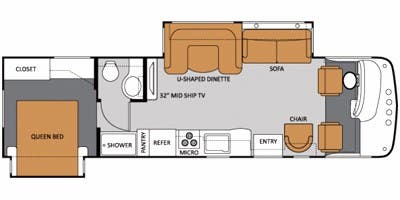 Full Specs For 2012 Thor Motor Coach Windsport 32a Rvs
