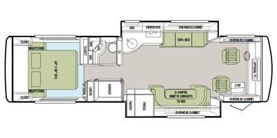 Find Specs for 2011 Tiffin - Allegro Breeze <br>Floorplan: 32 BR (Class A)