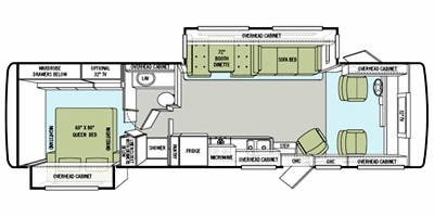 Find Specs for 2011 Tiffin - Allegro <br>Floorplan: 32 BA (Class A)