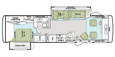 Find Specs for 2011 Tiffin - Allegro <br>Floorplan: 32 CA (Class A)