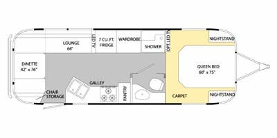 Find Specs for 2014 Airstream - Classic Limited <br>Floorplan: 27FB (Travel Trailer)