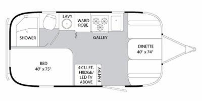 Find Specs for 2013 Airstream - International Serenity <br>Floorplan: 19 (Travel Trailer)