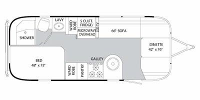 Find Specs for 2012 Airstream - International Serenity <br>Floorplan: 23D (Travel Trailer)