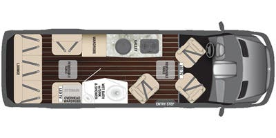 Find Specs for 2015 Airstream - Interstate <br>Floorplan: 3500 Lounge (Class B)