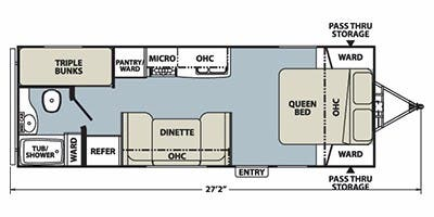 Find Specs for 2013 Coachmen - Apex <br>Floorplan: 238BH (Travel Trailer)