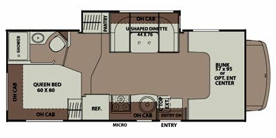 Find Specs for 2012 Coachmen - Leprechaun <br>Floorplan: 220 QB (Class C)