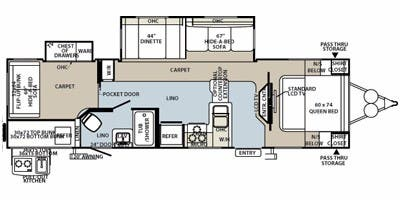 Find Specs for 2012 Forest River - Flagstaff <br>Floorplan: 831BHWS (Travel Trailer)