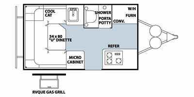 Find Specs for 2012 Forest River - Flagstaff <br>Floorplan: T12SC (Expandable Trailer)