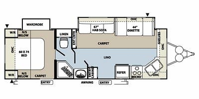 Find Specs for 2014 Forest River - Rockwood Ultra Lite <br>Floorplan: 2608WS (Travel Trailer)
