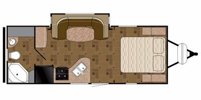Find Specs for 2015 Heartland - Prowler <br>Floorplan: 20P RBS (Travel Trailer)