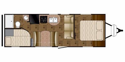 Find Specs for 2014 Heartland - Prowler <br>Floorplan: 26P BH (Travel Trailer)