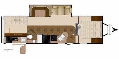 Find Specs for 2012 Heartland - Prowler <br>Floorplan: 29P BHS (Travel Trailer)