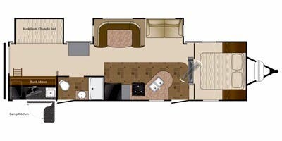 Find Specs for 2012 Heartland - Prowler <br>Floorplan: 32P BHS (Travel Trailer)